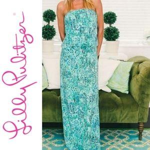 Lilly Pulitzer Morado Maxi Dress Shorely Blue
